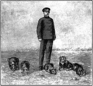 Роберт Герсбах с собаками