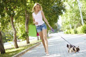 Девушка с собакой.